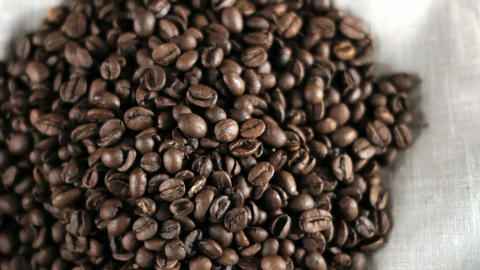 Pile of Coffee beans Stock Video Footage