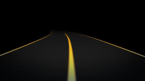 Night Road loop 03 Stock Video Footage