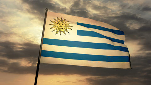 Flag Uruguay 03 Animation