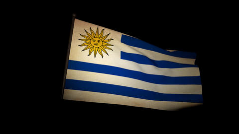 Flag Uruguay 01 Animation