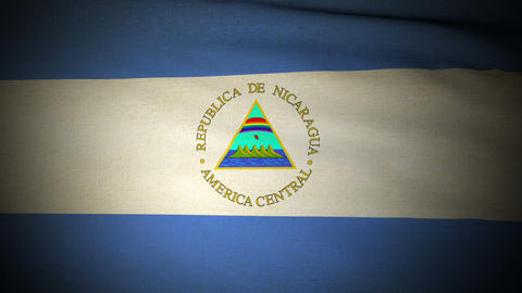 Flag Nicaragua 04 Stock Video Footage