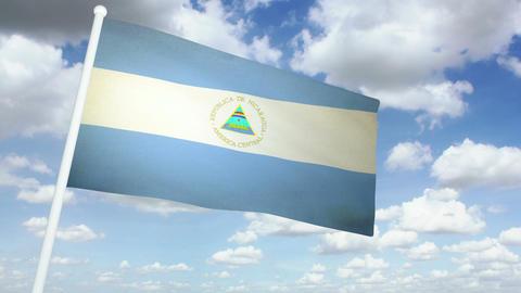 Flag Nicaragua 02 Animation