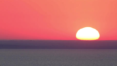 Movement of the sun on the sea at sunrise Feodosiy Footage