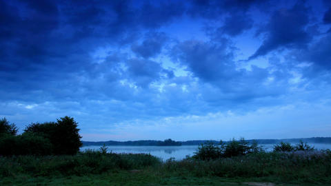 Sunrise on the lake Moiseevskoe, Valdaysky distric Stock Video Footage