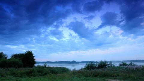 Sunrise on the lake Moiseevskoe, Valdaysky distric Stock Video Footage
