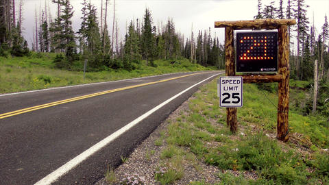 Speed limit warning sign Stock Video Footage