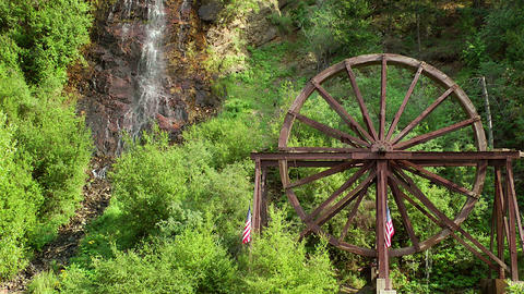 Charlie Taylor Waterwheel Stock Video Footage