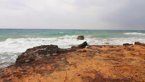 The sea after a storm Stock Video Footage