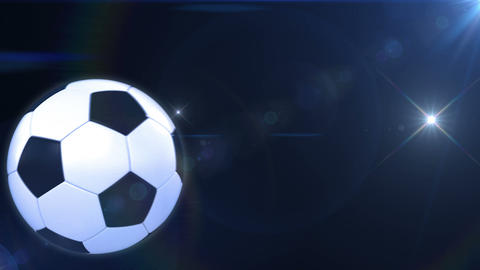 Soccer ball flying in flashes. Alpha mask. HD 1080 Stock Video Footage