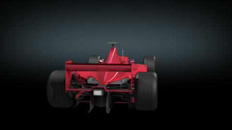 Formula One red color rotating on black background Stock Video Footage
