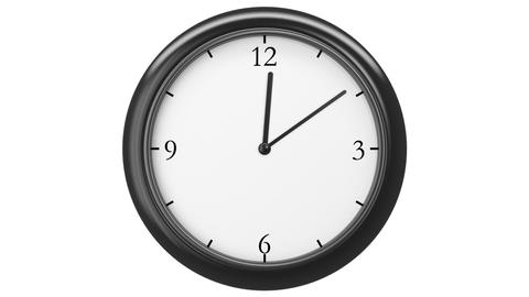 Clock with Twelve hour time lapse, HD 1080, Looped Stock Video Footage