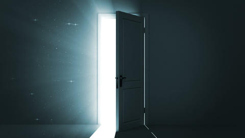 Door opening to a heaven light. Sparks flying. Alp Stock Video Footage