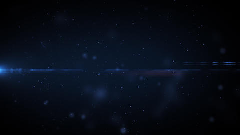 Dust in space with flares. Useful for titles. HD.  Animation