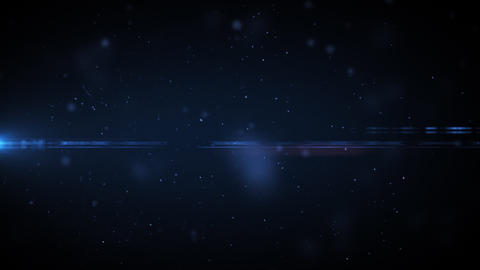 Dust in space with flares. Useful for titles. HD. Stock Video Footage