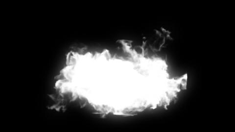 Explosion on black. 2 versions - with and without  Animation