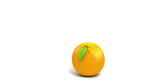 One orange rolling to another on white background. Stock Video Footage