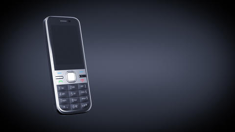 Mobile Phone On Black Background. HD. Mask stock footage