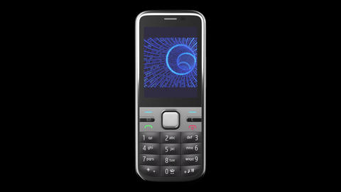 Highly detailed Mobile Phone turning on black back Stock Video Footage