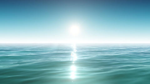Sea and sun. Blue sky. Looped animation. HD 1080 Animation