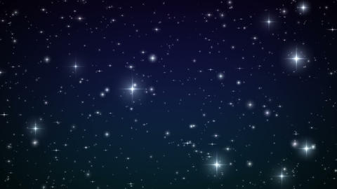 Stars in the sky. Looped animation. Beautiful nigh Stock Video Footage