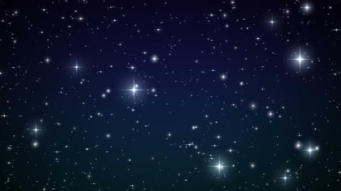 Stars In The Sky. Looped Animation. Beautiful Nigh stock footage