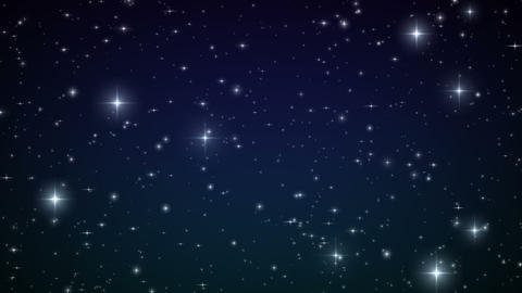 Heart made of twinkling Stars in the Beautiful nig Stock Video Footage