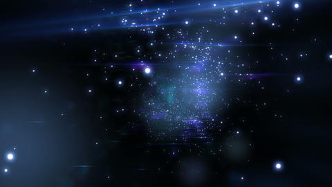 Beautiful Flight through the stars. Looped animati Animation