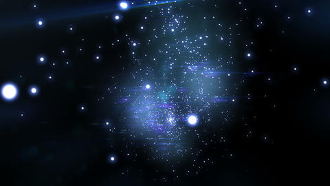 Beautiful Flight through the stars. Looped animati Stock Video Footage