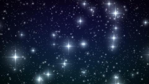 Stars falling like snowflakes. HD 1080. Looped ani Stock Video Footage