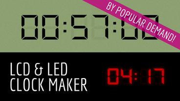Digital Clock Maker stock footage