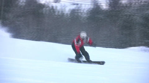 Falling of the snowboarder Stock Video Footage