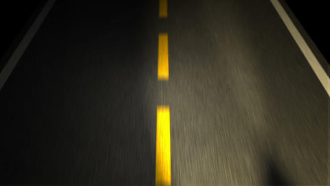 The Road. Yellow Line On New Asphalt Road Stock Video Footage