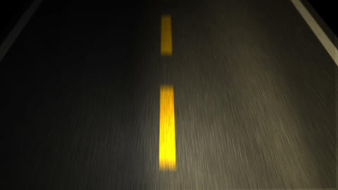The Road. Yellow Line On New Asphalt Road Animation