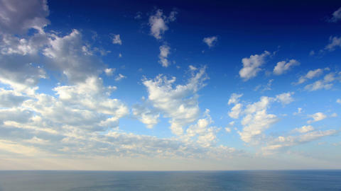 Cloudy sky over the sea (Time Lapse) Footage