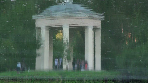 Arbour, reflected in the water Footage