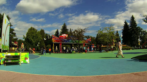 Children's playground Stock Video Footage