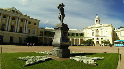 Palace in Pavlovsk Stock Video Footage
