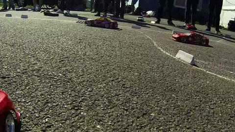 Racing RC cars Footage