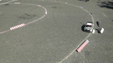 Racing RC cars Stock Video Footage