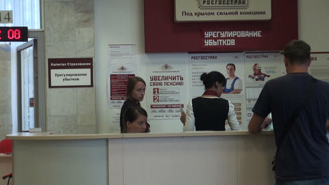 Reception of visitors in the office Stock Video Footage