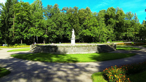 Sculpture in the Park of Pavlovsk Stock Video Footage