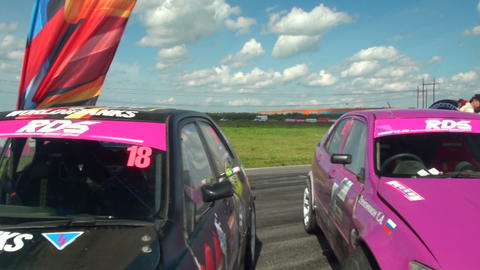 The machine before the start of rally Stock Video Footage
