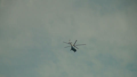 The helicopter in the sky Footage