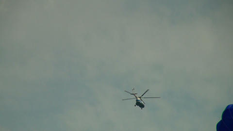 The helicopter in the sky Stock Video Footage