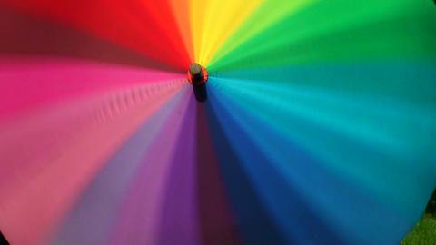 Colorful umbrella Stock Video Footage
