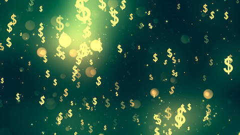 Dollar Fall Stock Video Footage