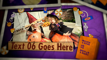 Kids Halloween After Effects Project