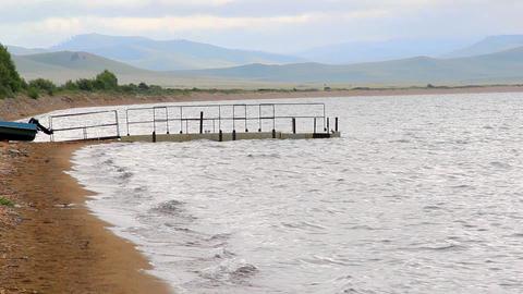 Itkul big lake in Khakassia reserve Khakasskiy Footage