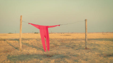 Clothesline and Red Long Johns Footage