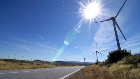Rotating windmills Stock Video Footage